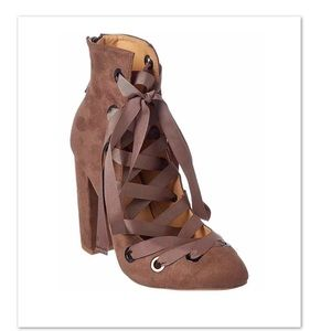 Daya by Zendaya Corset Lace Up Ankle Boots